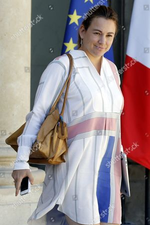 French Junior Minister For Digital Economy Axelle Lemaire Leaves the Elysee Palace After the First Weekly Cabinet Meeting Following the Summer Holidays in Paris France 22 August 2016 France Paris