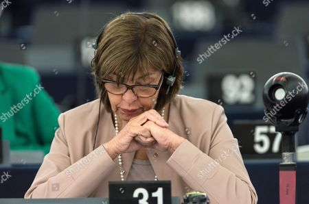 German Rebecca Harms Member of the European Parliament For Alliance 90/the Greens Reacts During a Debate in the European Parliament in Strasbourg France 05 July 2016 the European Parliament Met to Review the Brexit Summit Conclusions and the Past Dutch Eu Presidency All Member Nations of Eu Take Part in the Rotating Six-month Eu Presidency That is Currently Held by Slovakia France Strasbourg
