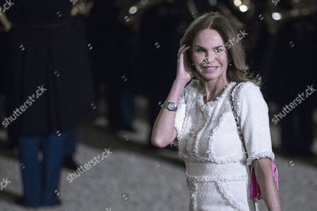 Dutch Journalist Rosalie Van Breemen Arrives at the Elysee Palace For a State Dinner to Honor Netherlands' King Willem-alexander and Queen Maxima's Visit in Paris France 10 March 2016 This Dinner is Part of a Two-day Official Visit France Paris