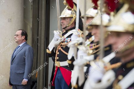 French President Francois Hollande After His Meeting with Ukrainian President Petro Porochenko (not Pictured) at the Elysee Palace in Paris France 21 June 2016 Petro Porochenko is on an One Day Working Visit to the French Capital France Paris