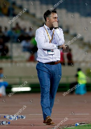 Guam's British Head Coach Gary White During the 2018 Fifa World Cup Asian Qualifiers Group D Soccer Match Between Iran and Guam at the Azadi Stadium in Tehran Iran 03 September 2015 Iran (islamic Republic Of) Tehran