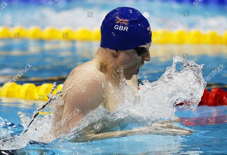 Roberto Pavoni of Great Britain on His Way Placing Second in Men's 400m Medley Final at the Len European Short Course Swimming Championships in Netanya Israel 03 December 2015 Israel Netanya