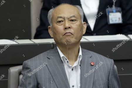 Tokyo Governor Yoichi Masuzoe Reacts While Attending a Plenary Session of the Tokyo Metropolitan Assembly at the Prefectural Parliament Building in Tokyo Japan 15 June 2016 Earlier in the Day Masuzoe Handed in His Resignation After Receiving Criticism on His Usage of Political Funds Japan Tokyo