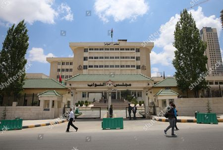 Stock Image of General View For Jordanian Parliament in Amman Jordan on 29 May 2016 King Abdullah Ii of Jordan Has Appointed Hani Al-mulqi to Form a New Government Replacing the Outgoing Government of Prime Minister Abdullah Ensour Which Tendered Its Resignation Today a Royal Decree Also was Issued on Sunday Dissolving the Lower House of Parliament As of 29 May 2016 in Line with Paragraph (3) of Article (34) of the Constitution Jordan Amman
