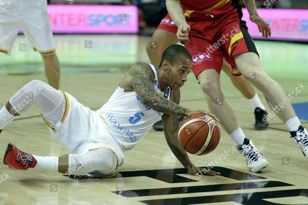 Stock Image of Jerome Randle of Ukraine During the Eurobasket 2015 Match Between Ukraine and Belgium in Riga Latvia 10 September 2015 Latvia Riga
