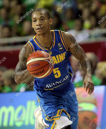 Jerome Randle of Ukraine in Action During the Eurobasket 2015 Match Between Lithuania and Ukraine in Riga Latvia 05 September 2015 Latvia Riga