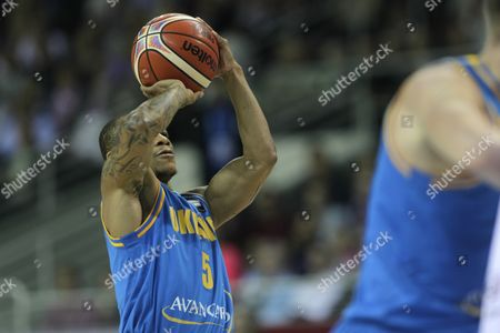 Jerome Randle of Ukraine During the Eurobasket 2015 Match Between Latvia and Ukraine in Riga Latvia 09 September 2015 Latvia Riga