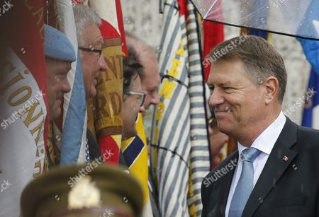 Romania's President Klaus Iohannis (r) Meets with Representants of Patriatics Associations at the Memorial For Solidarity During a State Visit in Luxembourg 06 June 2016 Romania's President Klaus Iohannis and His Wife Carmen Johannis Are on a Two Day Visit to Luxembourg Luxembourg Luxembourg