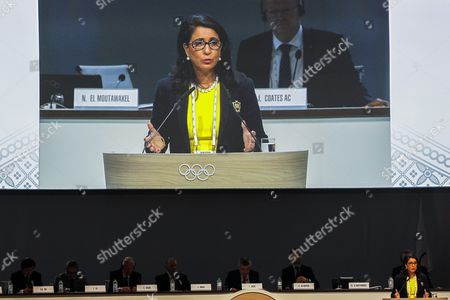 The Chair of the Ineternational Olympic Committee (ioc) Coordination Commision Nawal El Moutawakel Speaks on the Report of the Xxiii Olympics in Rio De Janeiro Brazil in 2016 at the Convention Centre in Kuala Lumpur Malaysia 01 August 2015 Ioc President Thomas Bach Said on 29 July That He Expected to Have a Successful 2016 Olympic Games in Rio As the Organizers Have Been Working Earnestly in Addressing All Challenges They Currently Face Malaysia Kuala Lumpur