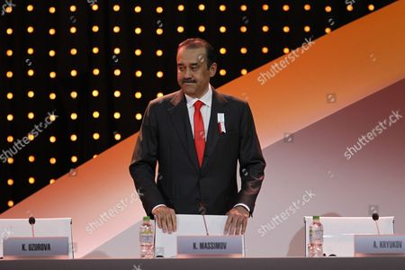 Kazakhstan Prime Minister Karim Massimov React During the Presentations by the Candidate Cities For the Third Winter Youth Olympic Games in 2020 at the Convention Centre in Kuala Lumpur Malaysia 31 July 2105 Malaysia Hosts the 128th International Olympic Committee Executive Board Meetings From 28 July to 03 August where Countries Will Be Lobbying who Will Be Host of the 2022 Olympic Winter Games and For the 2020 Youth Olympic Winter Games Malaysia Kuala Lumpur