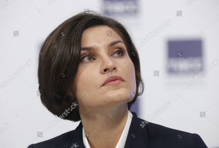 Stock Photo of Russian Olympic Champion Anna Chicherova (high Jump) Attends a News Conference in Moscow Russia 16 November 2015 Russia Still Expects to Compete at the Rio Olympics Next Year Despite the Decision by Ruling Athletics Body Iaaf to Provisionally Suspend the Country's Federation Over Doping Sports Minister Vitaly Mutko was Quoted As Saying He Believed Russia's Doping Issues Would Be Resolved in Time For the Olympics Russian Federation Moscow