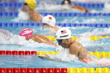 Jessica Hardy of Usa Competes in the Women's 100m Breaststroke Heats During the Fina Swimming World Championships at Kazan Arena in Kazan Russia 3 August 2015 Russian Federation Kazan