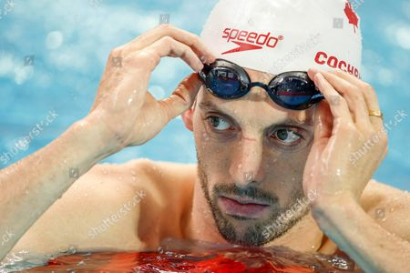 Ryan Cochrane of Canada During a Training Session at the Fina Swimming World Championships in Kazan Russia 30 July 2015 Russian Federation Kazan