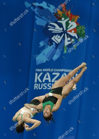 Mexico Paola Espinosa Sanchez and Alejandra Orozco Loza Compete in the Women's 10m Synchro Platform Final at the 16th Fina World Championships in Kazan Russia 27 July 2015 Russian Federation Kazan