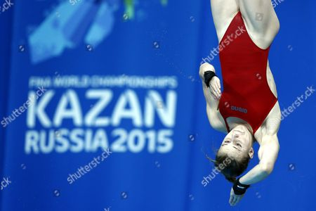 French Diver Laura Marino Competes During the Diving Women's 10m Platform Final at the 16th Fina World Championships in Kazan Russia 30 July 2015 Russian Federation Kazan