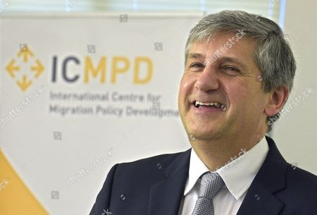 Stock Picture of New Director General of International Centre For Migration Policy Development (icmpd) Michael Spindelegger Presents His Plans For the International Organisation at the Inaugural Press Conference in Vienna Austria 29 January 2016 the Strategic Goal is to Strengthen Icmpd in Its Function As an Intergovernmental Dialogue and Mediation Platform Austria Vienna