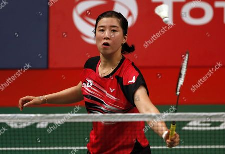 Bae Yeon Ju of South Korea in Action Against Linda Zetchiri of Bulgaria During Their Women's Singles Qualification Match at the Badminton 2015 Total Bwf World Championships in Jakarta Indonesia 12 August 2015 Indonesia Jakarta