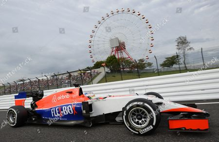 British Formula One Driver Will Stevens of the Manor Marussia F1 Team in Action During the Qualifying Session of the Japanese Formula One Grand Prix at the Suzuka Circuit in Suzuka Central Japan 26 September 2015 the Japanese Formula One Grand Prix Will Be Held on 27 September 2015 Japan Suzuka