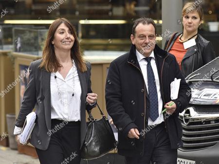 Corruption prosecutor Pedro Horrach (R) arrives to a trial in Palma Majorca, the Balearic Islands, eastern Spain, 23 February 2017. The court in Palma de Mallorca is to decide whether Inaki Urdangarin, husband of Spanish Princess Cristina Federica, and his former partner Diego Torres should enter in prison while their appeals are examined. Inaki Urdangarin was sentenced to six years and three months in prison and his former partner, Diego Torres, to eight and half years in prison, after they were found guilty for corruption and tax offences on 17 February in the Noos corruption case. Princess Cristina was acquitted of the charges of fraud but was sentenced to pay a fine of 265,000 Euros.