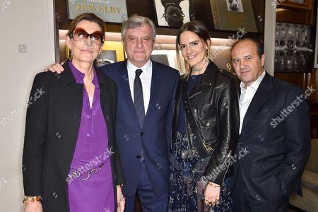 Martine Assouline, Sidney Toledano, Rachele Regini Assouline and Prosper Assouline