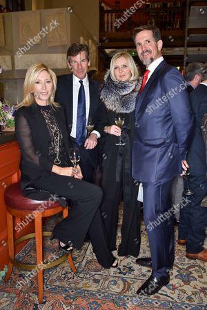 Crown Princess Marie-Chantal, Hugh Morrison, Amanda Wakeley and Crown Prince Pavlos