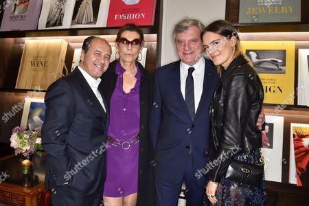 Stock Picture of Prosper and Martine Assouline, Sidney Toledano and Rachele Regini Assouline