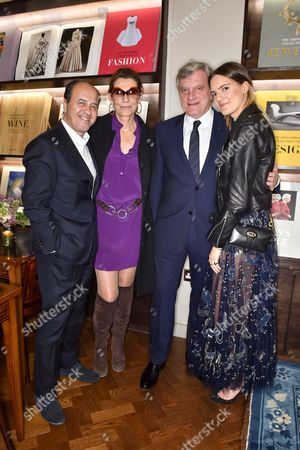 Prosper and Martine Assouline, Sidney Toledano and Rachele Regini Assouline