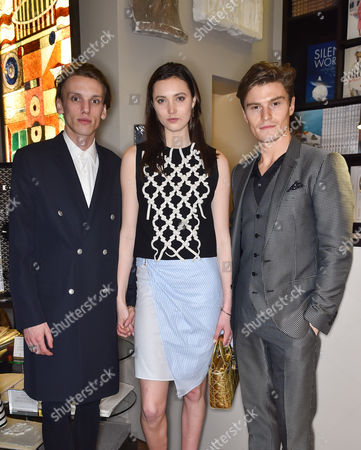 Jamie Campbell-Bower, Matilda Lowther and Oliver Cheshire
