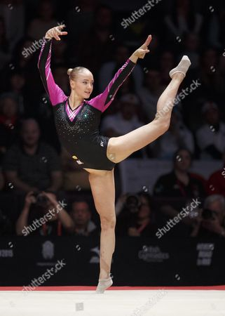Lieke Wevers of the Netherlands Performs on the Floor at the 46th Fig Artistic Gymnastics World Championships Apparatus Final in Glasgow Britain 1 November 2015 United Kingdom Glasgow