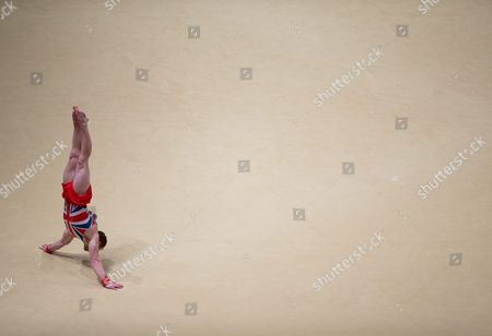 Daniel Purvis of Great Britain Performs on the Floor During the Men's All-around Finals on Day Eight at the 46th Fig Artistic Gymnastics World Championships in Glasgow Britain 30 October 2015 United Kingdom Glasgow