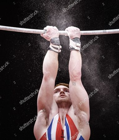 Daniel Purvis of Great Britain Performs on the Horizontal Bar at the Men's All-round Final at the 46th Fig Artistic Gymnastics World Championships in Glasgow Britain 30 October 2015 United Kingdom Glasgow