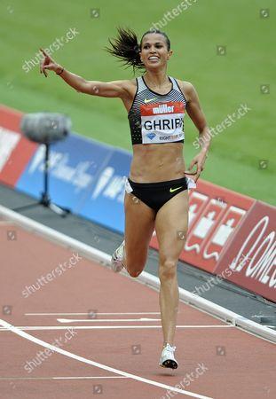 Habiba Ghribi of Tunisia Wins the Women's 3000m Steeplechase of the Iaaf Diamond League Meeting at the London Olympic Stadium London Britain 23 July 2016 United Kingdom London