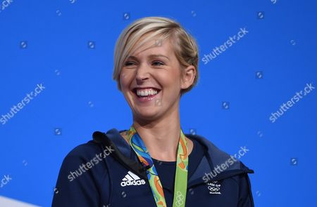 British Olympian Vicky Thornley Speaks During the Conservative Conference in Birmingham Britain 03 October 2016 United Kingdom Birmingham