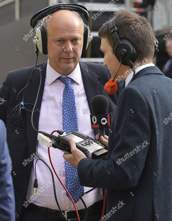 Leader of the House of Commons Chris Grayling (c) Speaks to Media Outside the Houses of Parliament in Central London Britain 24 June 2016 Britons in a Referendum on 23 June Have Voted by a Narrow Margin to Leave the European Union (eu) Media Reports on Early 24 June Indicate That 51 9 Per Cent Voted in Favour of Leaving the Eu While 48 1 Per Cent Voted For Remaining in United Kingdom London