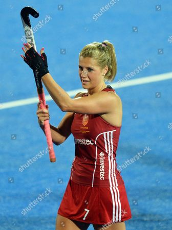 England's Georgie Twigg Celebrates After Winning the Match Against Italy and Progressing to the Semi-final Stage of the Eurohockey 2015 Tournament at the Lee Valley Hockey Centre Queen Elizabeth Olympic Park in London Britain 24 August 2015 Epa/hannah Mckay United Kingdom London