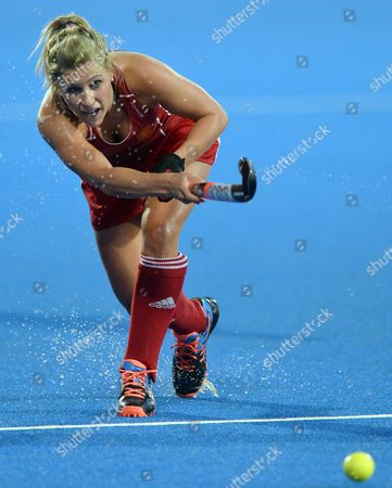 England's Georgie Twigg in Action During the Eurohockey 2015 Women's Match Between England and Germany at the Lee Valley Hockey Centre Queen Elizabeth Olympic Park in London Britain 26 August 2015 United Kingdom London