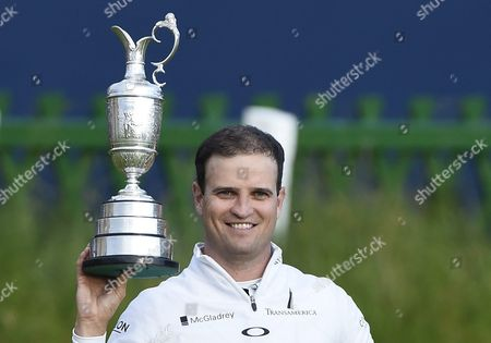 Stock Picture of Us Golfer Zack Johnson Holds the Claret Jug As He Celebrates Winning a Play Off on the Final Day to Win the British Open Golf Championship at St Andrews Scotland Britain 20 July 2015 United Kingdom St Andrews