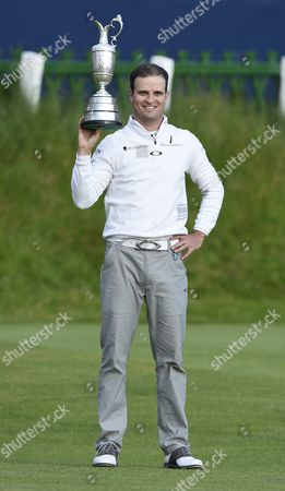 Us Golfer Zack Johnson Holds the Claret Jug As He Celebrates Winning a Play Off on the Final Day to Win the British Open Golf Championship at St Andrews Scotland Britain 20 July 2015 United Kingdom St Andrews