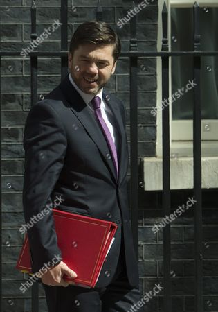 British Secretary For Work and Pensions Stephen Crabb Leaves No10 Downing Street After Attending a Cabinet Meeting in London Britain 05 July 2016 Crabb is One of the Candidates For Conservative Party Leadership to Succeed David Cameron Tory Mps Have Started Voting on the Party's Leadership United Kingdom London