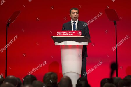 General Secretary of the Labour Party Iain Mcnicol Speaks on the First Day of Britain's Labour Party Conference in Liverpool Britain 25 September 2016 the Labour Party Annual Conference 2016 Takes Place From 25 to 28 September 2016 United Kingdom Liverpool