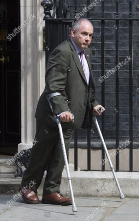 British Minister Without Portfolio Robert Halfon Leaves Number 10 Downing Street After Attending the Last Cabinet Meeting Hosted by British Prime Minister David Cameron in Westminster Central London England 12 July 2016 British Prime Minister David Cameron Will Resign on 13 July 2016 with Theresa May Due to Take Over As Prime Minister Later That Day United Kingdom London