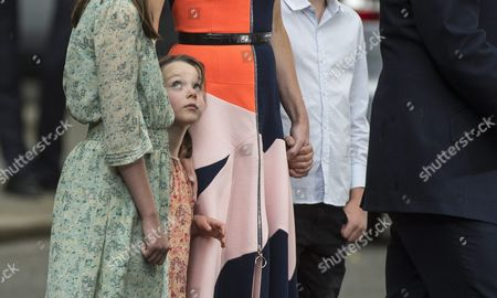 Stock Picture of Florence Cameron the Youngest Child of British Prime Minister David Cameron Looks Up As David Cameron Delivers a Speech Before Heading to Buckingham Palace to Formally Resign As British Prime Minister to Queen Elizabeth Ii London Britain 13 July 2016 Home Secretary Theresa May Will Take Over From Mr Cameron As British Prime Minister Later the Same Day United Kingdom London