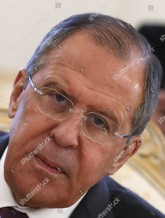 Russian Foreign Minister Sergei Lavrov During His Meeting with Jordanian Foreign Minister Nasser Judeh (unseen) in Moscow Russia 09 June 2016 Russian Federation Moscow