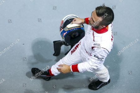 British Formula One Driver Will Stevens of Manor Marussia F1 Team Walks on the Pitlane During Qualifying Ahead of the Singapore Formula One Grand Prix Night Race in Singapore 19 September 2015 the Singapore Formula One Grand Prix Night Race Will Take Place on 20 September 2015 Singapore Singapore