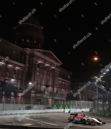 British Formula One Driver Will Stevens of Manor Marussia F1 Team in Action During the Second Practise Session on the Marina Bay Street Circuit in Singapore 18 September 2015 the Singapore Formula One Grand Prix Night Race Takes Place on 20 September 2015 Singapore Singapore