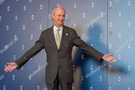 Spanish Defence Minister Pedro Morenes Eulate Waits For a Group Photo Call During the Informal Meeting of Eu Defence Ministers in Bratislava Slovakia 27 September 2016 Slovakia (slovak Republic) Bratislava