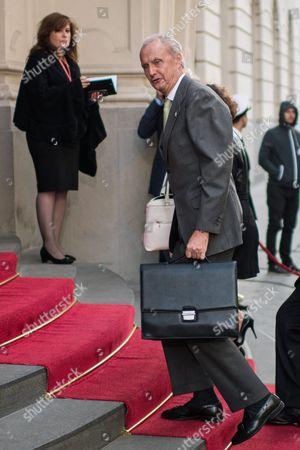 Spanish Defence Minister Pedro Morenes Eulate Arrives For the Informal Meeting of Eu Defence Ministers in Bratislava Slovakia 27 September 2016 Slovakia (slovak Republic) Bratislava
