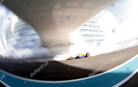 Spanish Formula One Driver Roberto Merhi of Manor Marussia F1 Team Steers His Car During the First Practice Session of Abu Dhabi Formula One Grand Prix at Yas Marina Circuit in Abu Dhabi United Arab Emirates on 27 November 2015 the Formula One Grand Prix of Abu Dhabi Will Take Place on 29 November 2015 United Arab Emirates Abu Dhabi