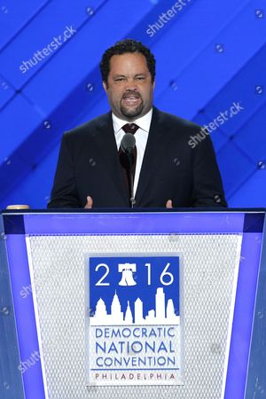 Civil Rights Activist From Maryland Benjamin Jealous Delivers Remarks in the Wells Fargo Center on the First Day of the 2016 Democratic National Convention in Philadelphia Pennsylvania Usa 25 July 2016 the Four-day Convention is Expected to End with Hillary Clinton Formally Accepting the Nomination of the Democratic Party As Their Presidential Candidate in the 2016 Election United States Philadelphia