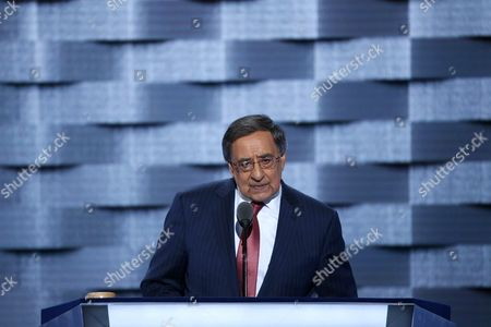 Former Congressman and Secretary of Defense Leon Panetta Delivers Remarks on the Third Day of the Democratic National Convention at the Wells Fargo Center in Philadelphia Pennsylvania Usa 27 July 2016 the Four-day Convention is Expected to End with Hillary Clinton Formally Accepting the Nomination of the Democratic Party As Their Presidential Candidate in the 2016 Election United States Philadelphia